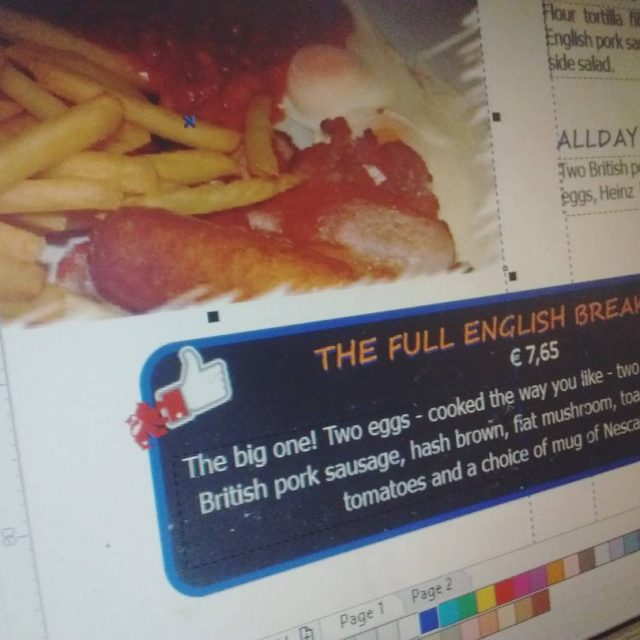 In the making breakfast graphics malia2016