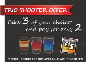 Shots on offer, Malia